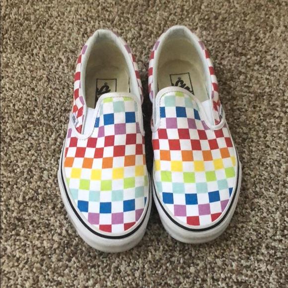 Multi Color Checkerboard Vans | Poshmark